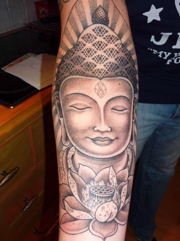 The spirit of the best of men is spotless like the new lotus in the buddah and lotus flower tattoo this piece was done by jondix mahashakti in barcelona rate of pictures of tattoos submit your own tattoo picture or just mightylinksfo
