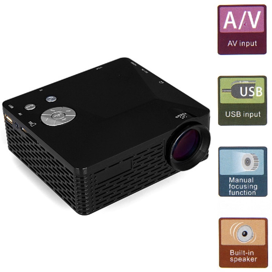47.07$  Buy here - http://ali8xm.worldwells.pw/go.php?t=32732681340 - Mini LED Projector BL-18 Portable Pico Projektor 60Lumen Full HD Proyectores AV/VGA/SD/USB/HDMI Video Proyector Beamer Projector