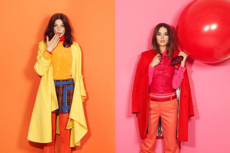 Monochrome Color Blocking Fashion Editorials With Model