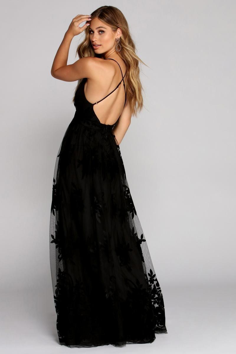 Morgan Formal Flocked Velvet Dress Black Boho Maxi Dress Lace Dress Boho Dresses [ 1200 x 800 Pixel ]