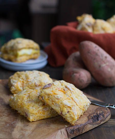 Sweet Potato-Bacon Biscuits with Cheddar