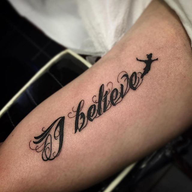 Believe Tattoos Tattoos: 27 Minimalist Peter Pan Tattoos To Remind You To Never