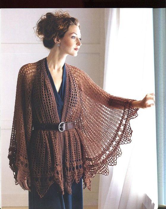 De una extrema delicadeza para embellecer tus hombros | Crochet y ...