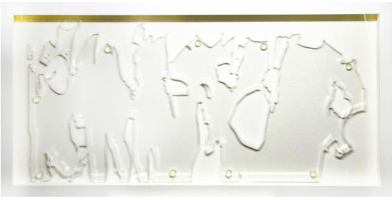 José Ángel Vincench, From the White Series, Interpretations, 2015. Acrylic, 12 x 23 3/4 in.