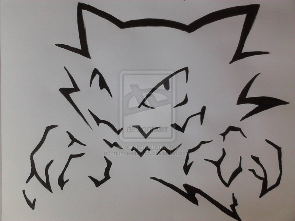 Haunter stencil design 02 by munna-chan78.deviantart.com on ...