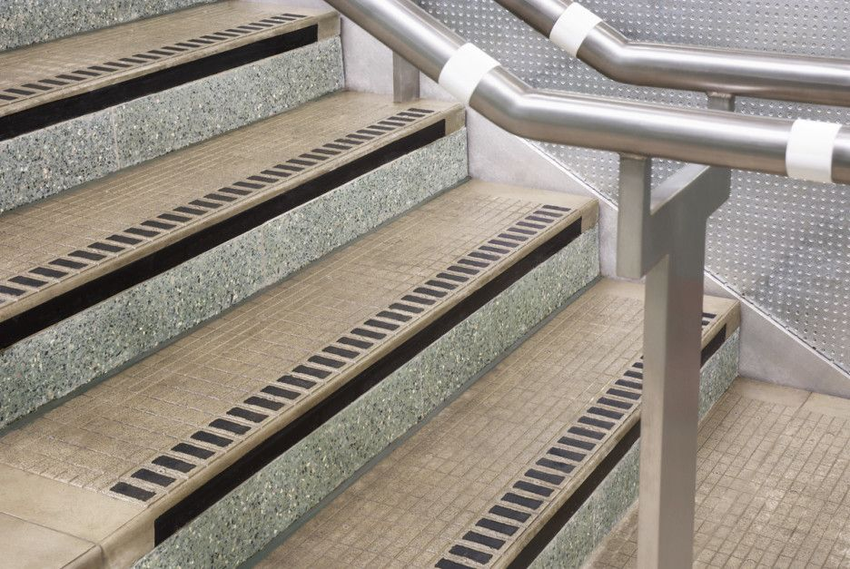 How To Install Cast Iron Stair Nosing On Steps : Exciting Image Of  Stainless Steel Metal Exterior Handrails And Cream Cast Iron Staircase  Nosing For Outdoor ...