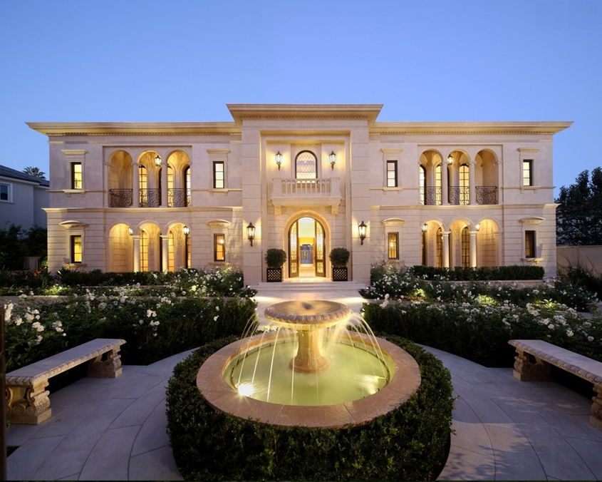 Spectacular limestone mansion in los angeles ca homes for Beautiful rich houses