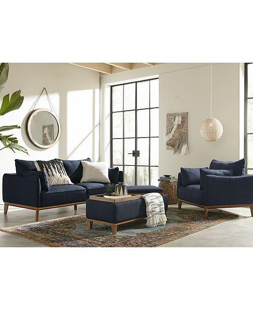 Stupendous Jollene 78 Fabric Sofa Created For Macys Midnight Blue Machost Co Dining Chair Design Ideas Machostcouk