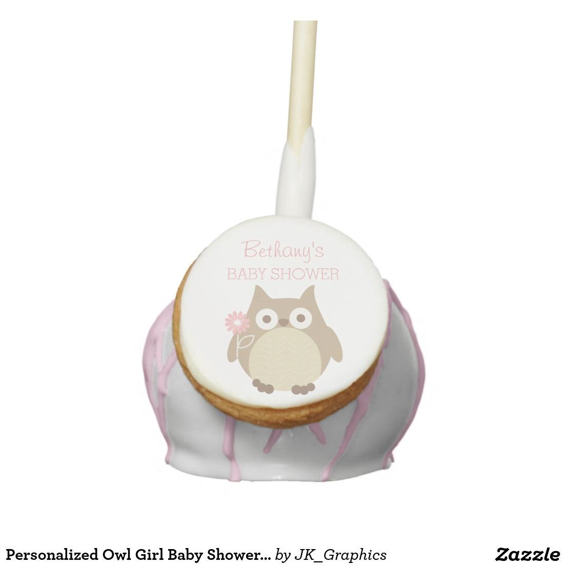 Personalized Owl Girl Baby Shower Favors Cake Pops | Baby Shower ...