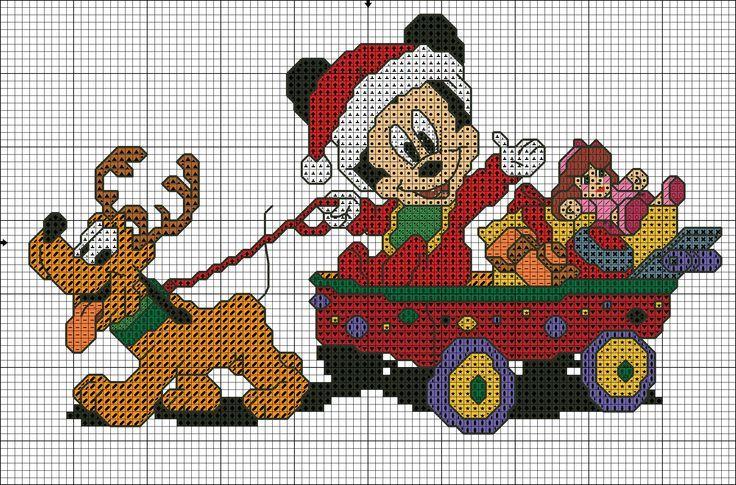 Immagini Natale Disney Baby.Schemi Punto Croce Natale Disney Disegni Di Natale 2019