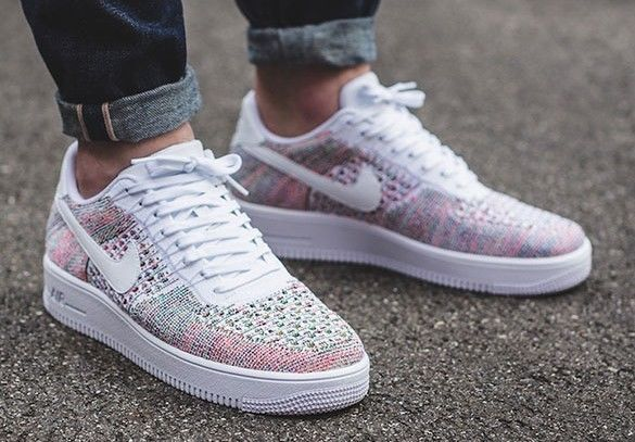 NEW Nike AF1 Ultra Flyknit Low MENS Size 9 Multi-Color White ...