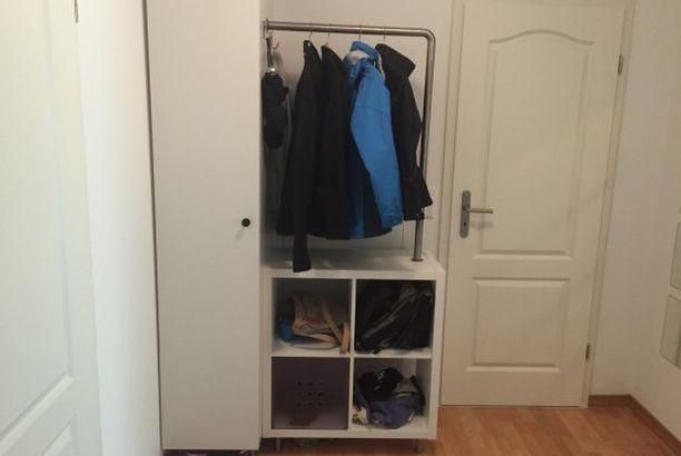 KALLAX and METOD Micro Wardrobe