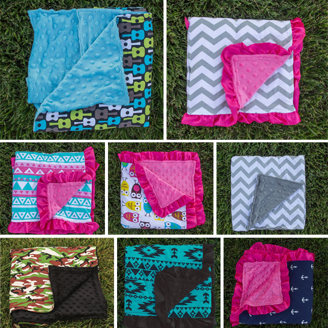 Many minky blankets to choose from!