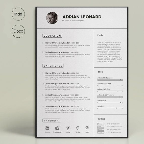 Super Resume by ResumeTools on Etsy Resume Templates Pinterest