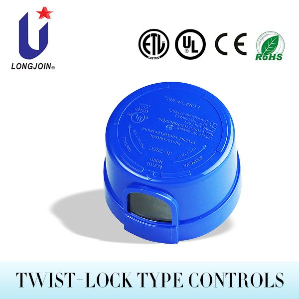 Fail On Mode Twist Lock Electronic Control Automatic Light Dimmer Photodiode Sensor Photocell Twist Lock Dim Lighting