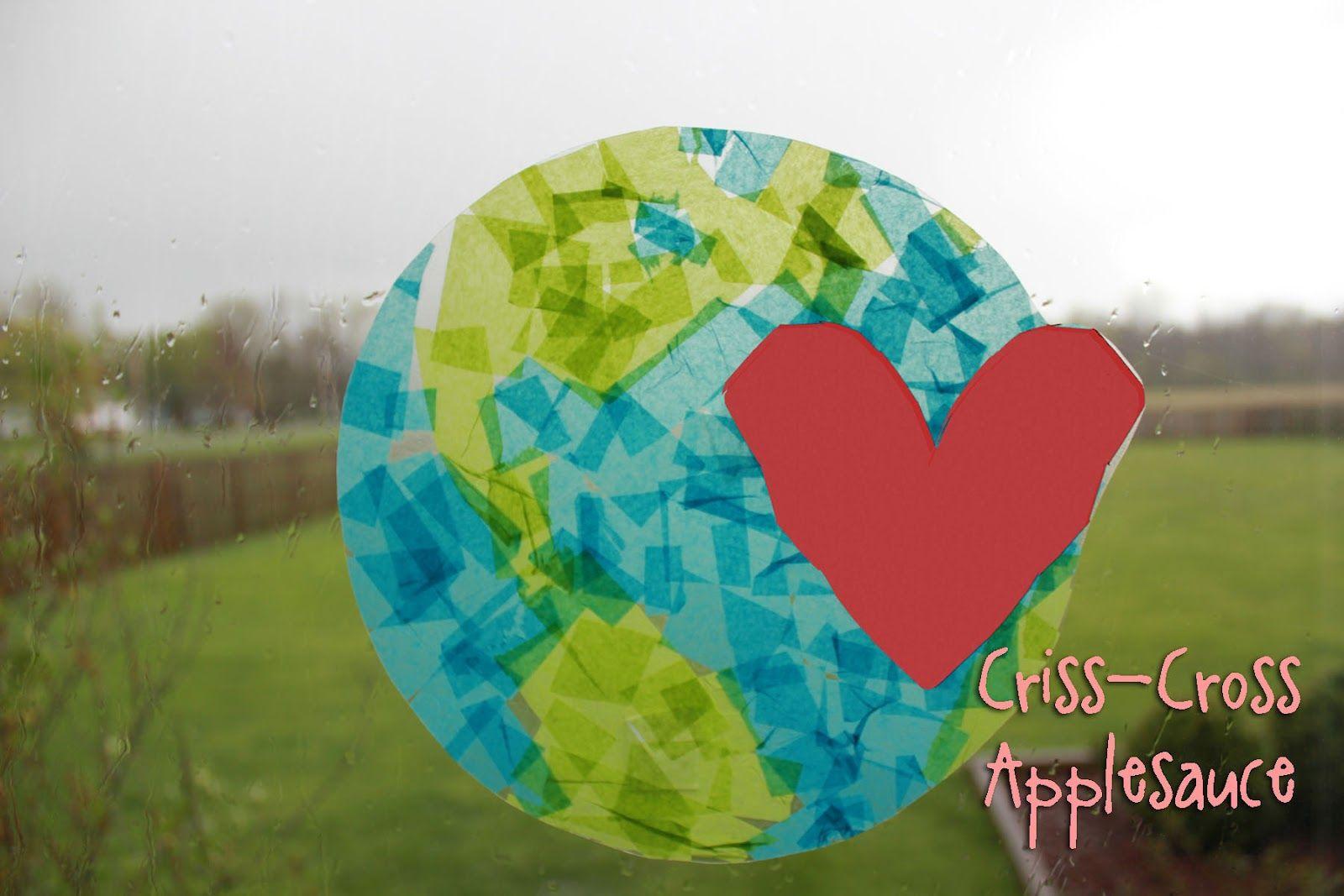 Criss Cross Applesauce Earth Day Suncatcher Earthday
