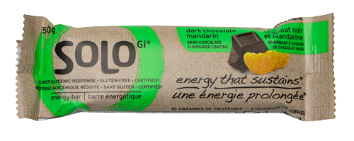 SoLo Energy Bar: Dark Chocolate Mandarin