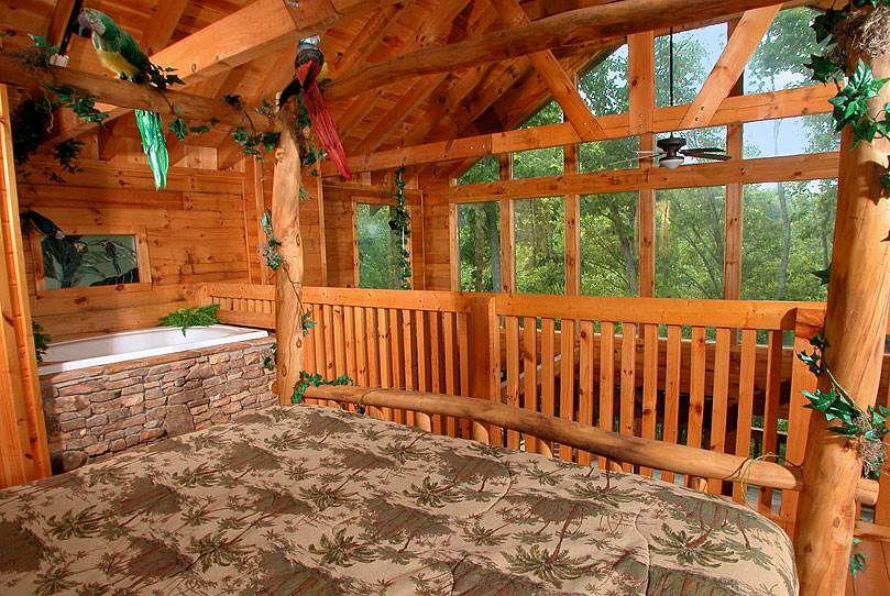 Me Tarzan You Jane 1 Bedroom Cabin Rental Luxury Log Cabins Cabin Rentals Cheap Cabins