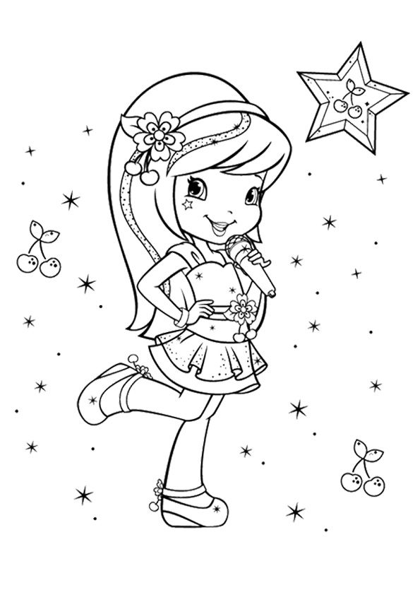 print coloring image | Coloring Pages | Pinterest | Strawberry ...