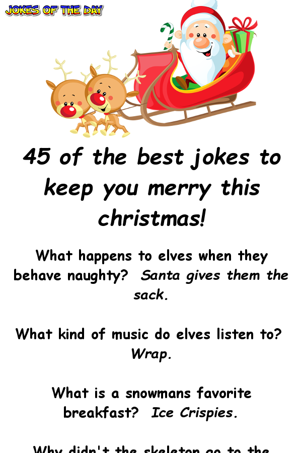 45 Christmas One Liner Jokes Funny christmas jokes