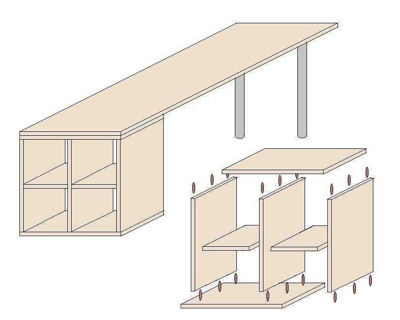 schreibtisch selber bauen mit anleitung heimwerken. Black Bedroom Furniture Sets. Home Design Ideas