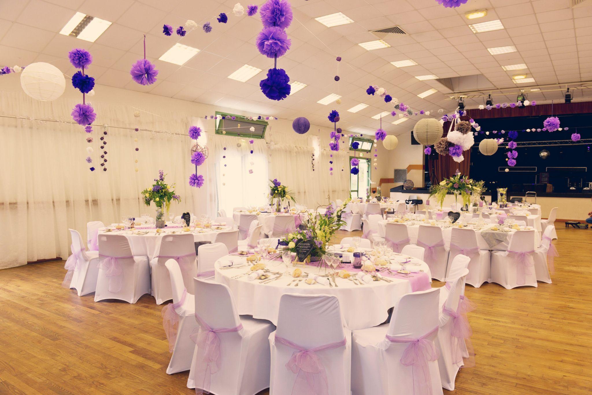 d coration de salle des f tes mariage romantique parme mauve lavande violet lilas beige blanc. Black Bedroom Furniture Sets. Home Design Ideas