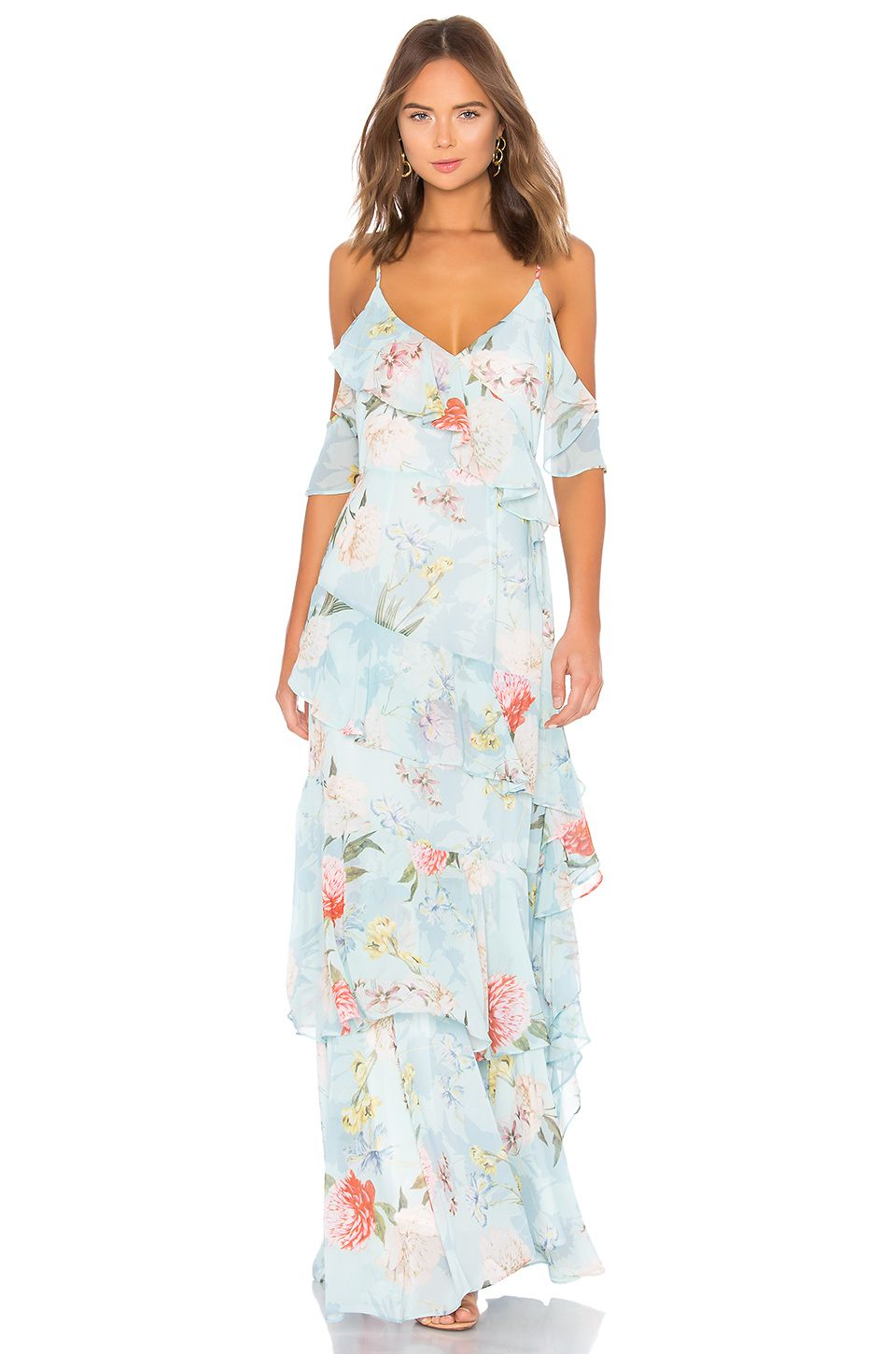 Yumi kim hearts desire maxi dress in forever yours jade revolve