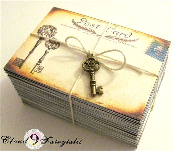 100 Vintage Postcards Wedding Place Cards by Cloud9Fairytales, $62.00