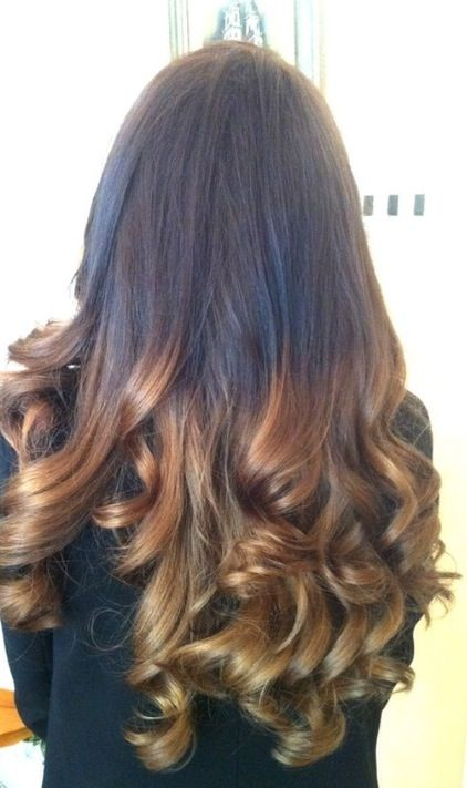 Straight Then Curly Ombre Hair Hair Beauty Cat Dark