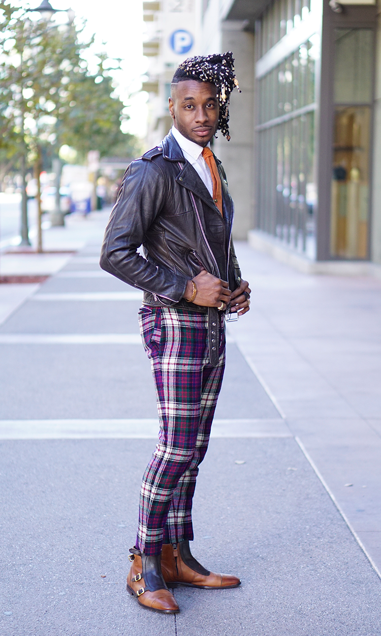 Image result for how to wear plaid pants mens