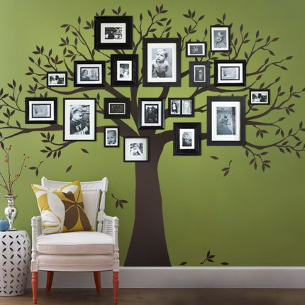 Family tree wall decal simple shapes wall decals furniture and accessories