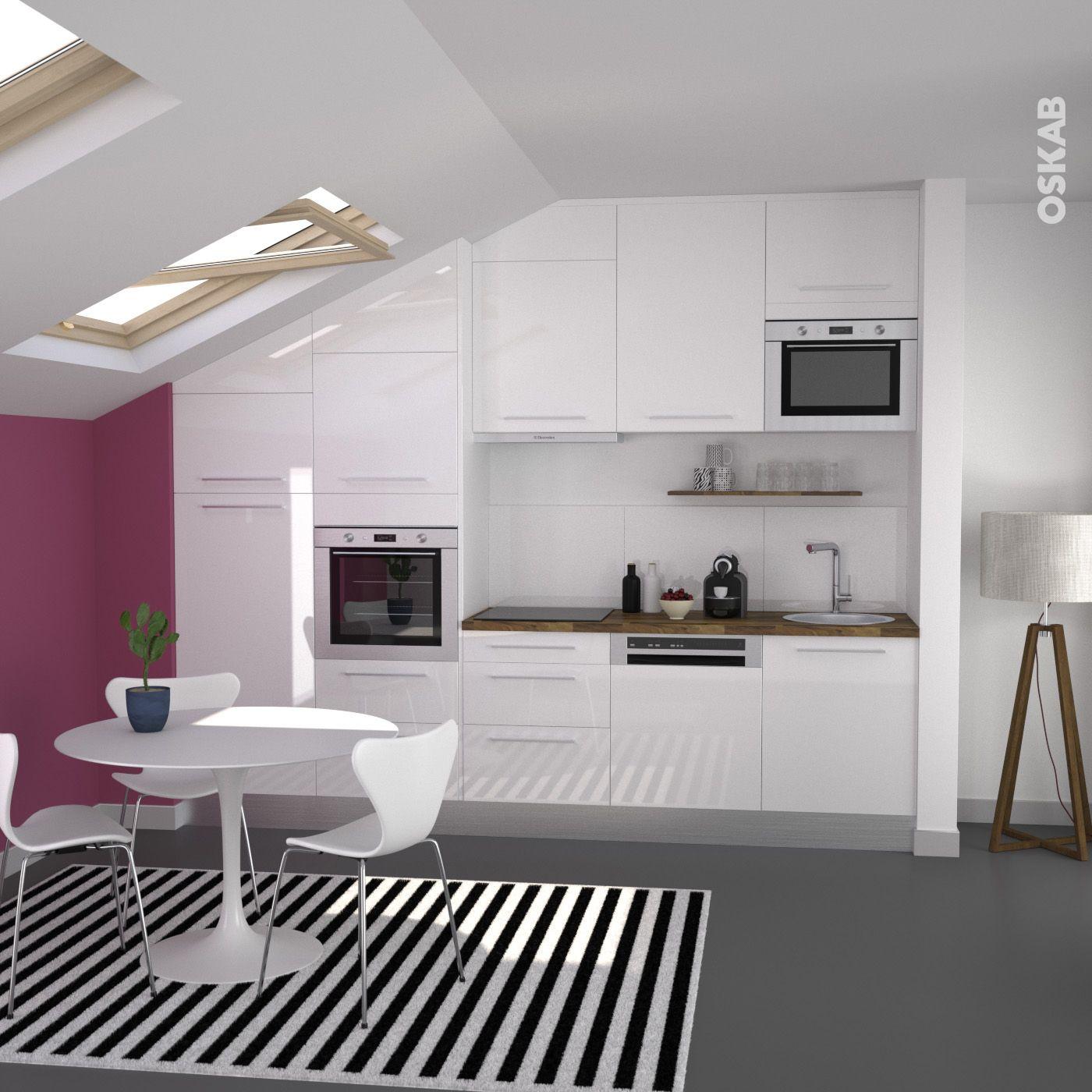 Couleur Des Murs Pour Une Cuisine: Cuisine Blanche Moderne Façade BORA Blanc Brillant