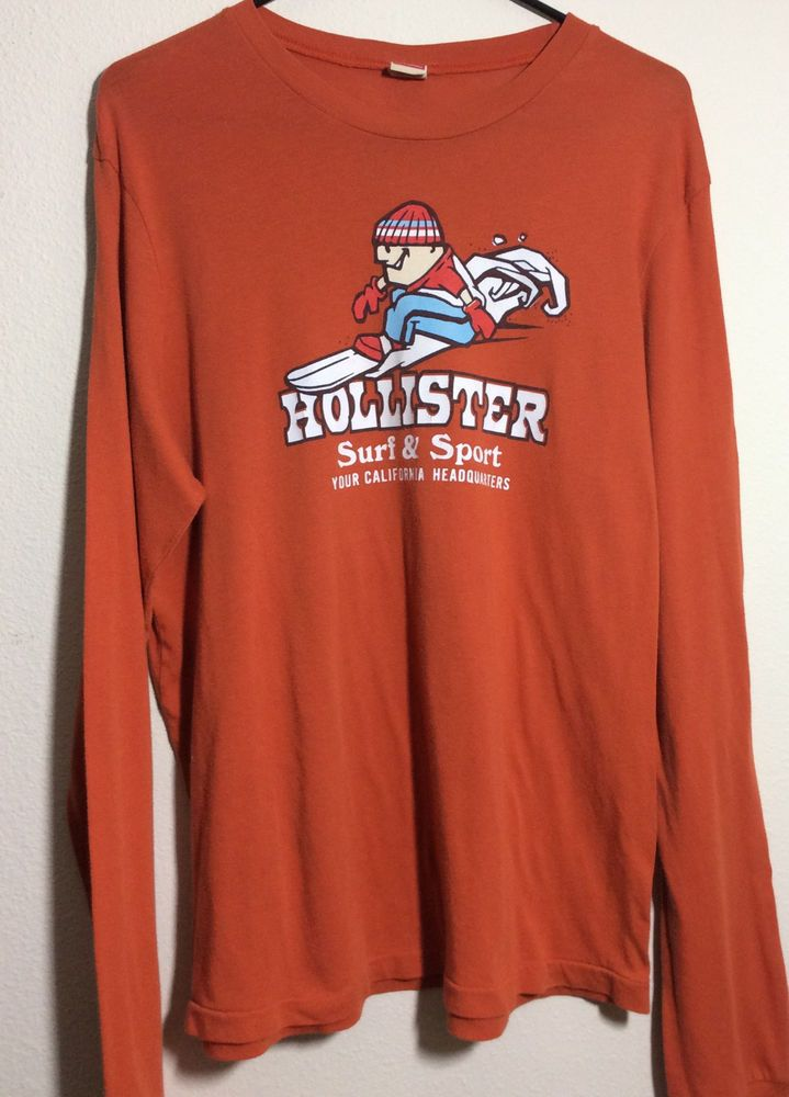 2f2e85e7f Original Vintage Hollister Long Sleeve California Surf Snowboard Ski Red  Tag XL  Hollister  GraphicTee