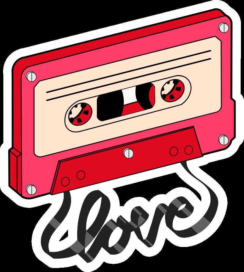Cassette Tape Love In 2020 Cassette Tape Art Love Stickers Cassette Tapes