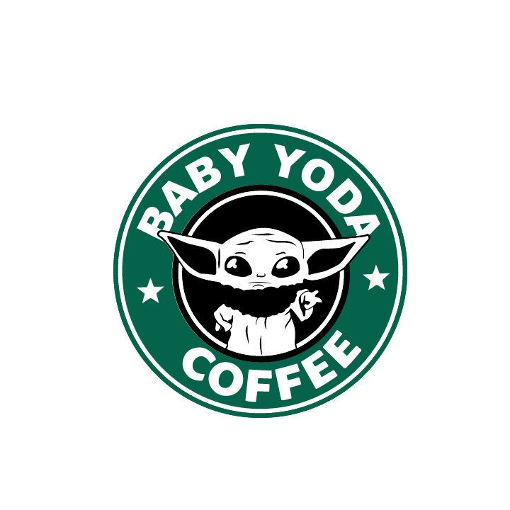 Baby Yoda Coffee SVG, Mandalorian, Star Wars, The Child, Disney Starbucks, Cricut Silhouette, dxf, pdf, png, eps, digital cut files, clipart