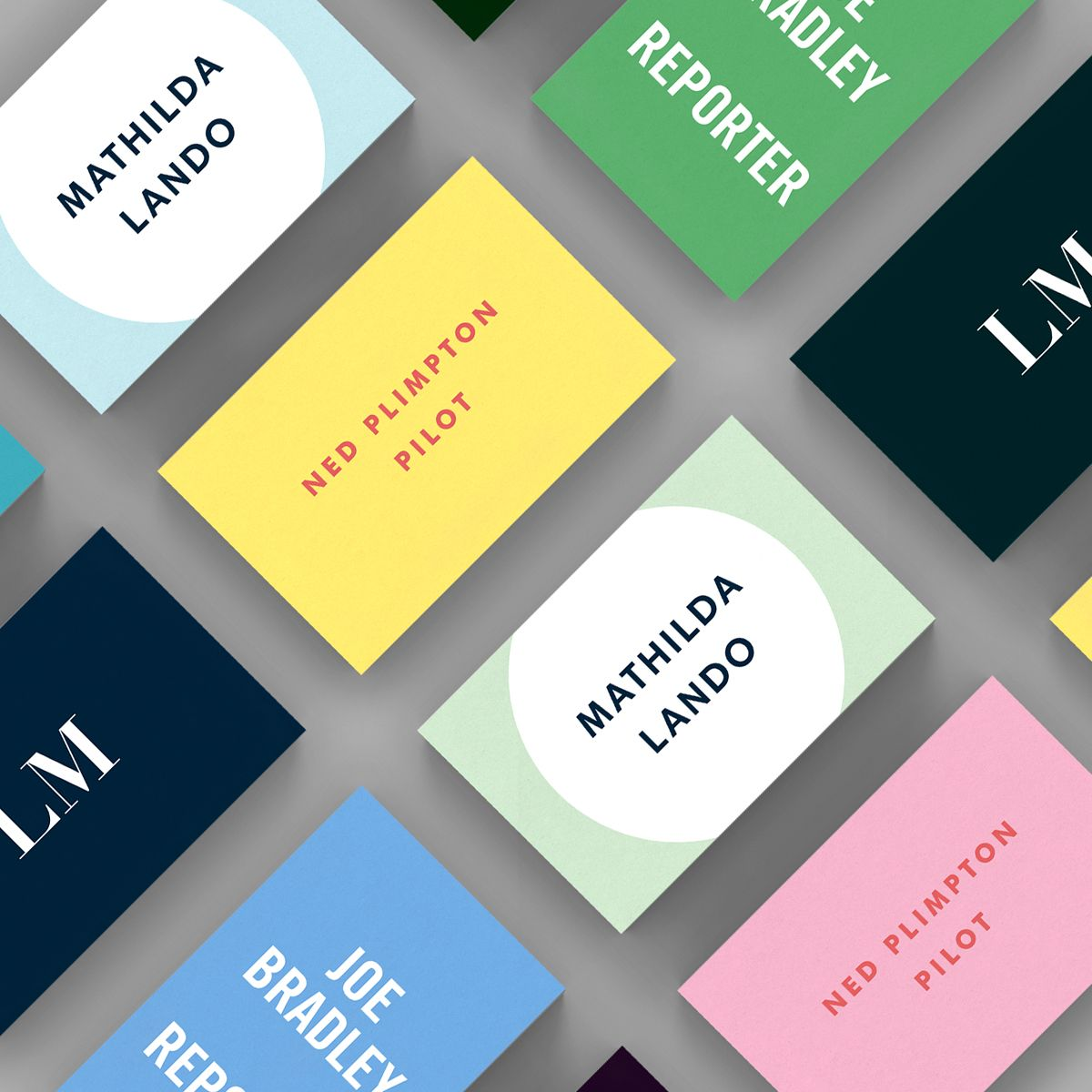 A selection of Bold business card templates available to customise ...