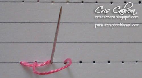 Cris Cabrera - Scrapbook: PAP ponto haste e ponto atrás (reto)