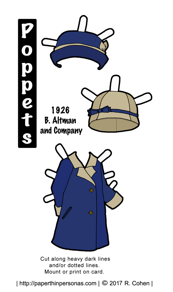 Poppet Paper Doll\'s Get a 1920s Coat to Wear With Matching Hats ...