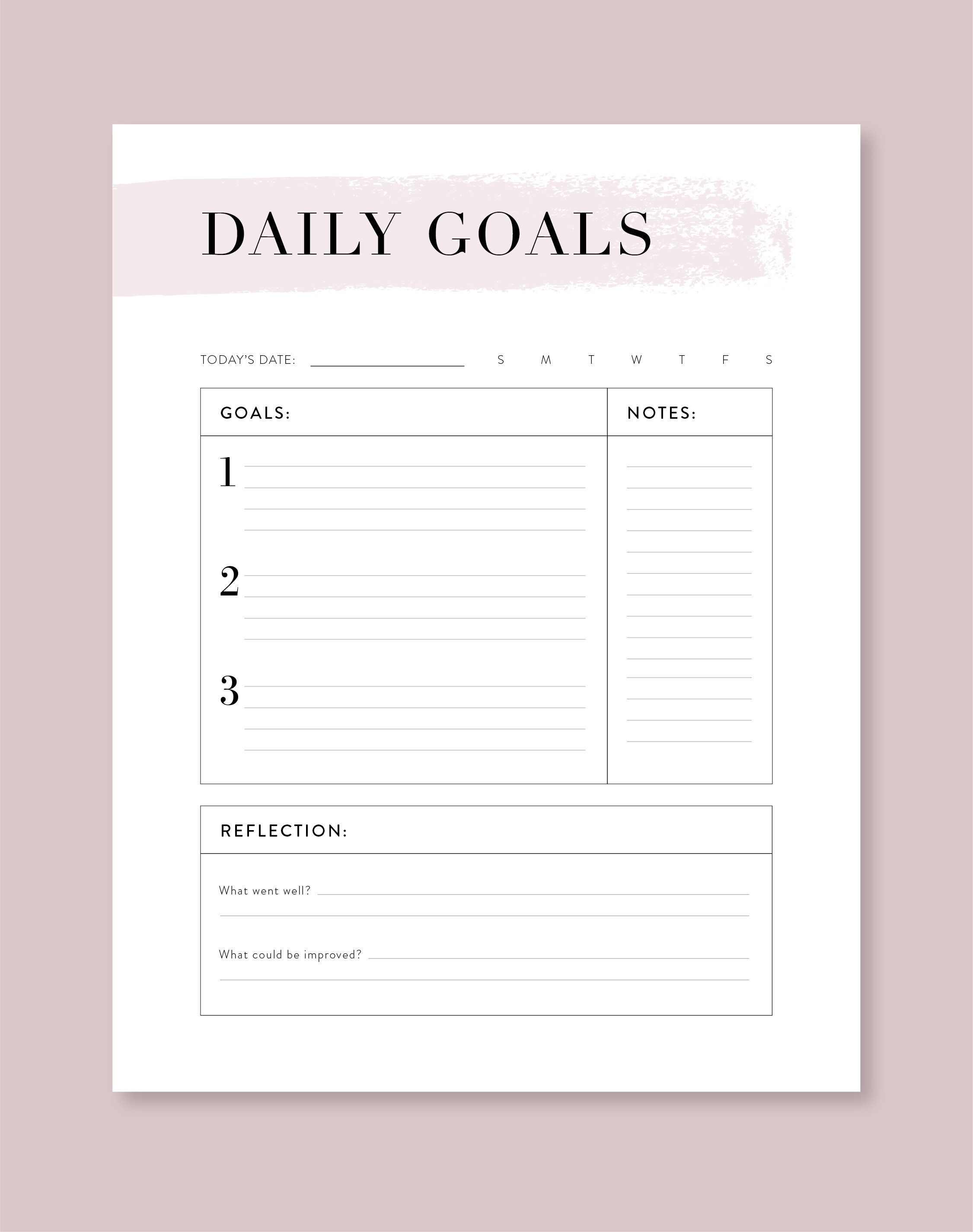 Daily Goal Planner