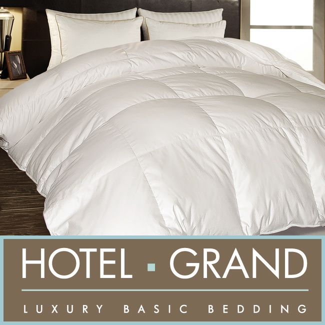 Hotel Grand 1000 Thread Count Egyptian Cotton Oversized White Down