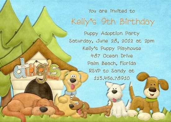 Cool Dog Birthday Invitations Ideas FREE Printable Invitation - Dog party invitations template