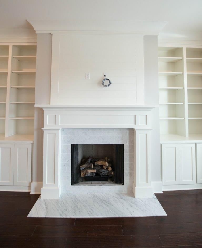 Cabinets And Fireplace Surrounds: Custom Built In Cabinets, Custom Built Fireplace Mantle
