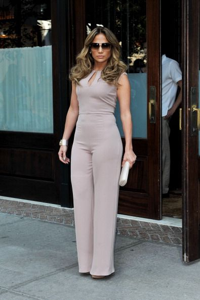 Jlo in a nude jumpsuit - this outfit is everything! | All Things Casually Chic | Pinterest ...
