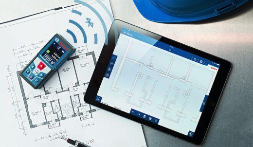 Bosch Entfernungsmesser App : Entfernungsmesser grundrisse vor ort zeichnen und bemaßen