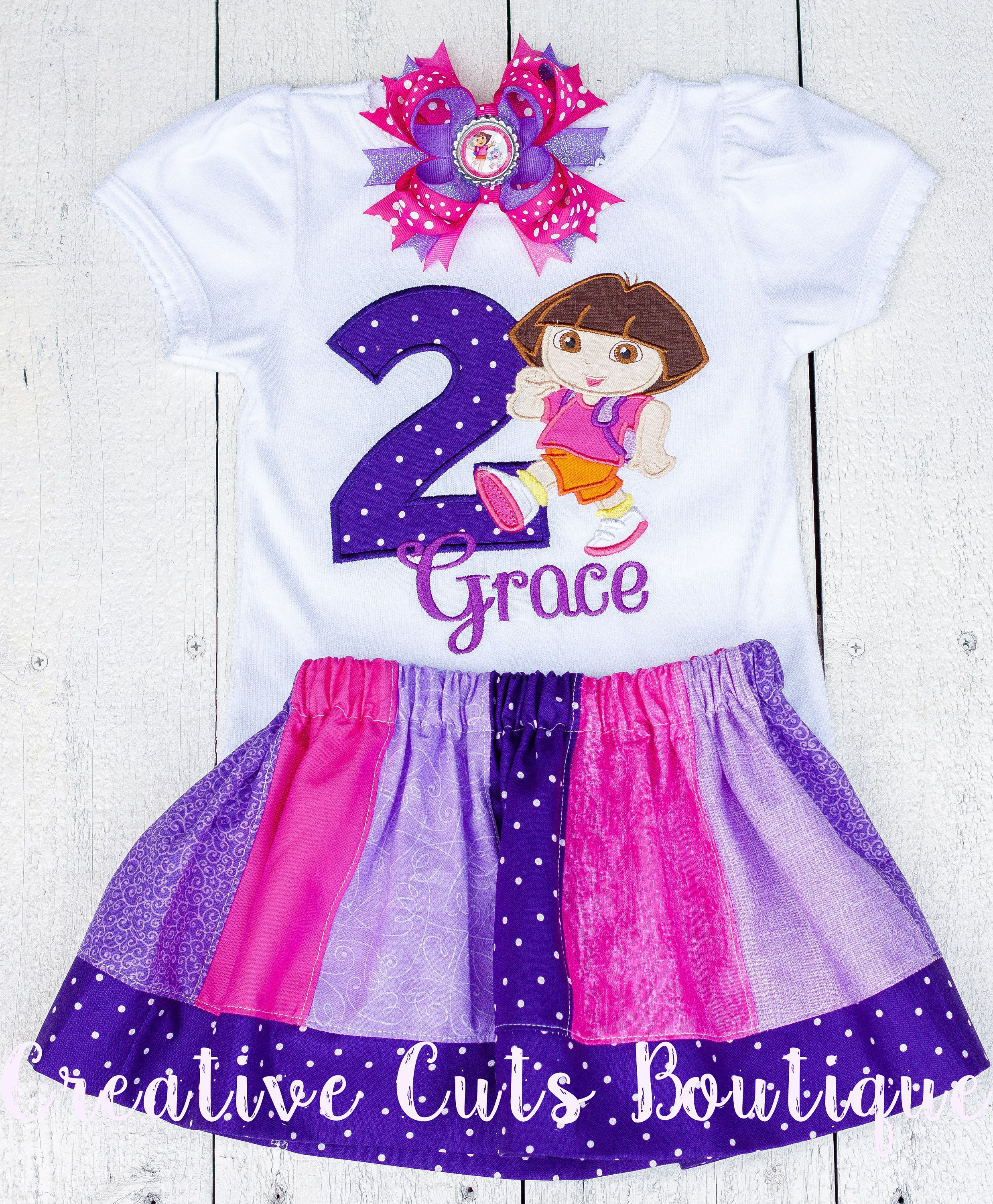 Dora The Explorer Birthday Shirt Outfit Personalized By CreativeCutsBoutique On Etsy