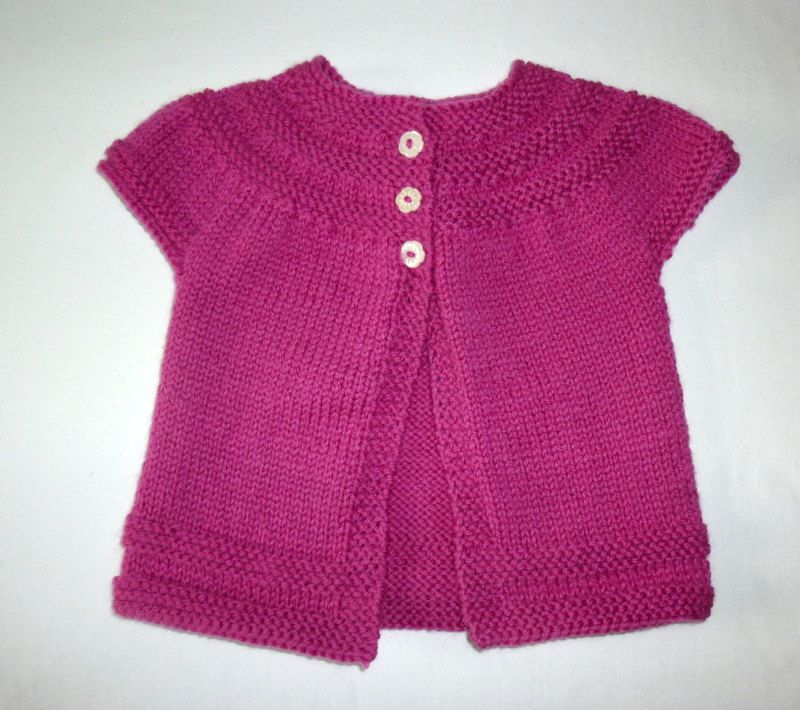Baby Cardigan. Knitted Cardigan. 0-6 month old girl. Girl's ...