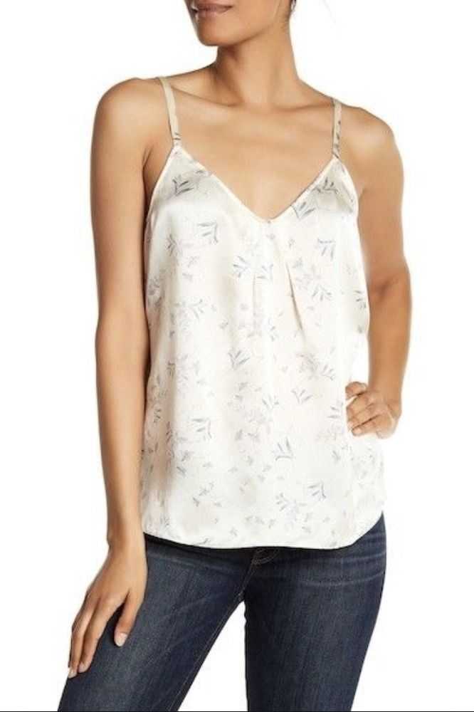 Print Vince V Floral Neck Sleeveless Tank Blouse Details About Silk vYbf6g7y