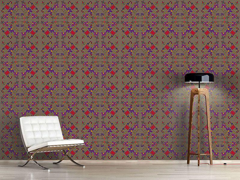 Design #Tapete Orientalische Blumen