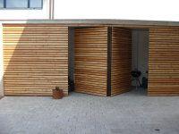 tür carport holz (mit Bildern) Holzfassade, Holzgarage