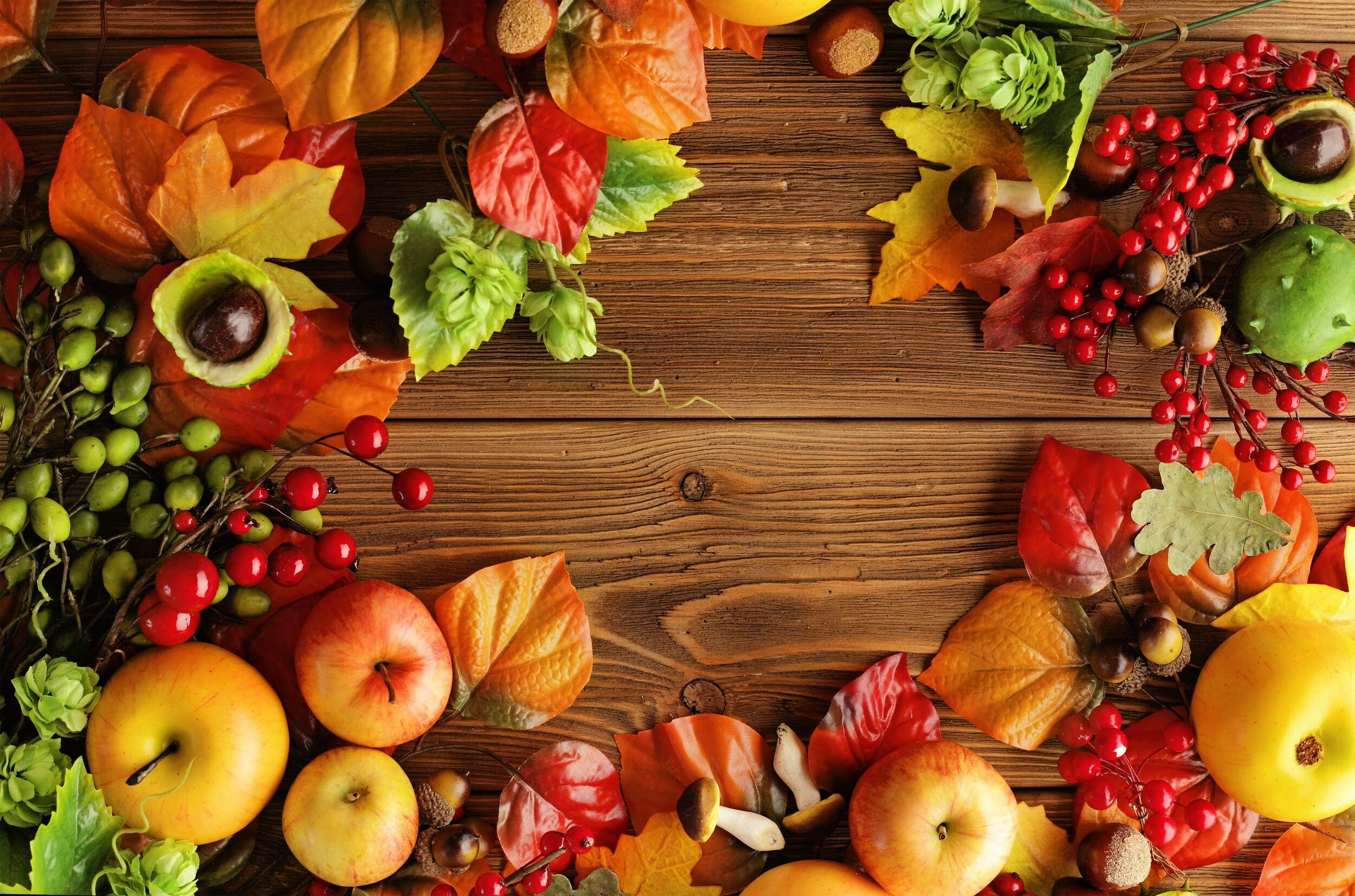 Autumn Wooden Background Fruits HD Wallpaper Autumn